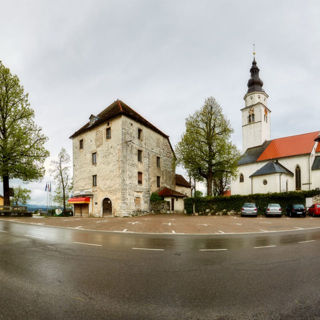 Cerknica, Tabor, Kirche Maria Himmelfahrt